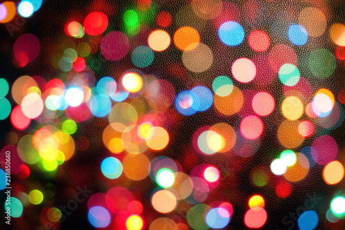 Colourful Festive Multi Colored Circles Defocused Abstract