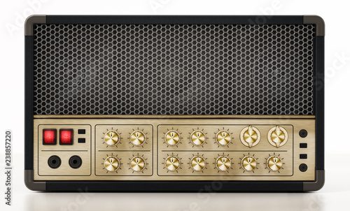 Canvas Generic guitar amplifier isolated on white background