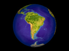 South America From Space On Mo...