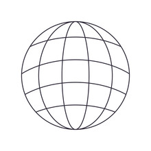 Globe With Lines Isolated Icon