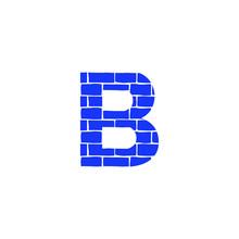 Vector Brick Logo Letter B