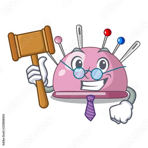 Fotografie, Tablou  Judge pincushion a cartoon pins for sewing