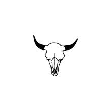 Cow Skull Vector Icon. Cow Sku...