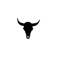 Cow Skull Vector Icon. Cow Skull Sign On White Background. Cow Skull Icon For Web And App