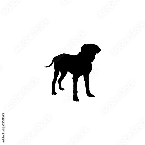 Printed kitchen splashbacks Panther dog vector icon. dog sign on white background. dog icon for web and app