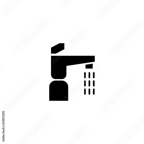 faucet vector icon  faucet sign on white background  faucet icon for