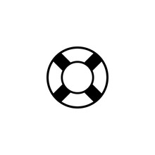 Lifesaver Vector Icon. Lifesaver Sign On White Background. Lifesaver Icon For Web And App