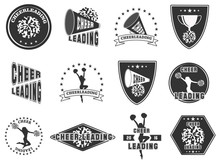 Set Of Labels, Logos For Cheerleading