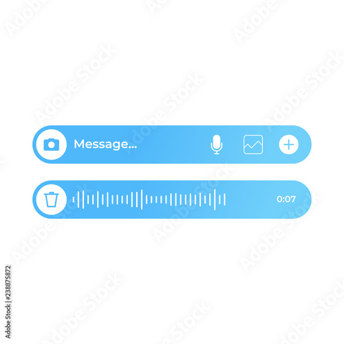 Modern text and voice message ui Fototapet