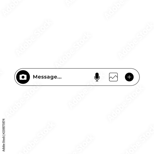 Fotografie, Tablou  Modern messenger message textbox template for chatting.