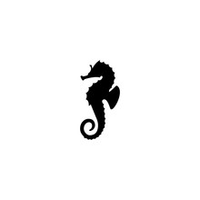Sea Horse Vector Icon. Sea Hor...