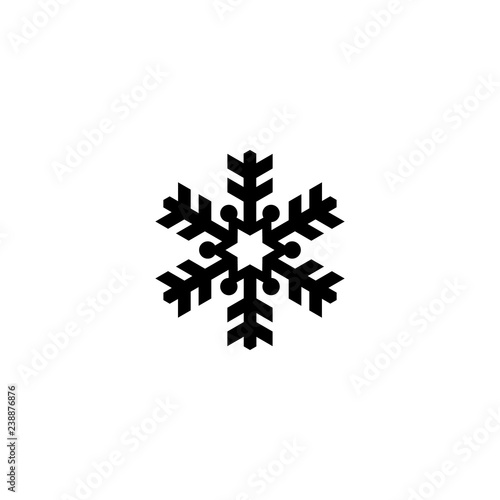 Foto auf AluDibond Boho-Stil snowflake vector icon. snowflake sign on white background. snowflake icon for web and app