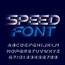 Speed Alphabet Font. Fast Spee...