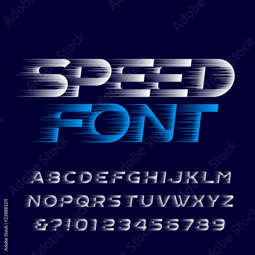 Fotomural Speed alphabet font