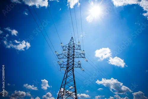 Fotografía  High voltage post