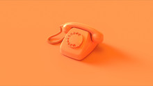 Orange Telephone 3d Illustrati...