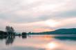 Sunset in the Ullibarri-Gamboa reservoir. Alava, Basque Country, Spain