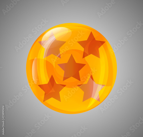 Photo  ball star. crystal ball