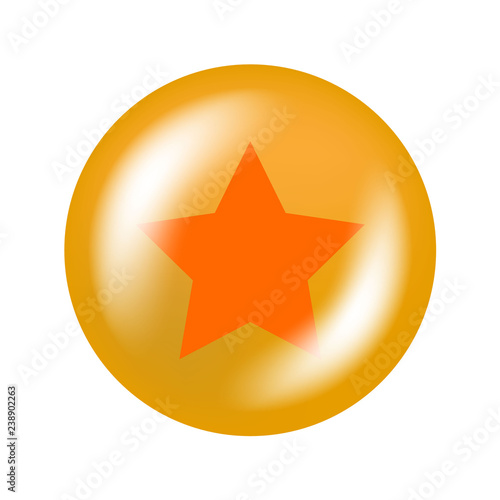 Photo  glossy ball with star