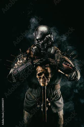 Post apocalyptic warrior Fototapete