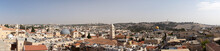 Panorama Of The City From The Top Of Damascus Gate, Including The Muslim And Christian Quarters, Jerusalem, Israel.