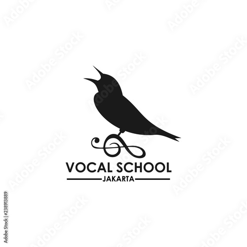 vocal school logo template Fototapete