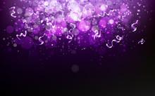 Magical Violet Stars Falling W...