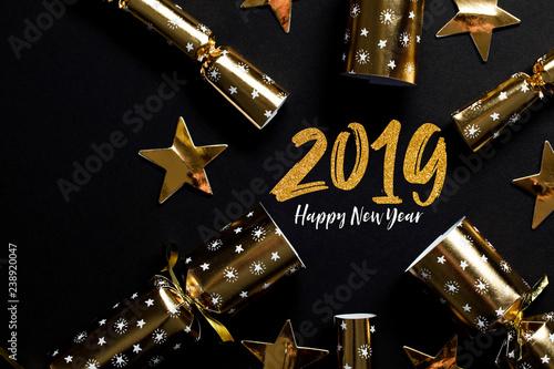 Fototapeta 2019 Happy New Year party background obraz na płótnie
