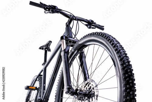 mountain bike against a white background