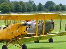 Tiger Moths Taxying