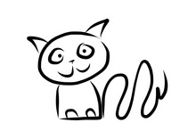 Simple Animal Cat - Digital Pa...