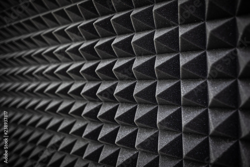 Foam soundproofing coating close-up. Recording studio details Canvas-taulu