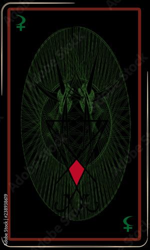 Tarot cards - back design, Baphomet, Sigil of Lucifer - Buy