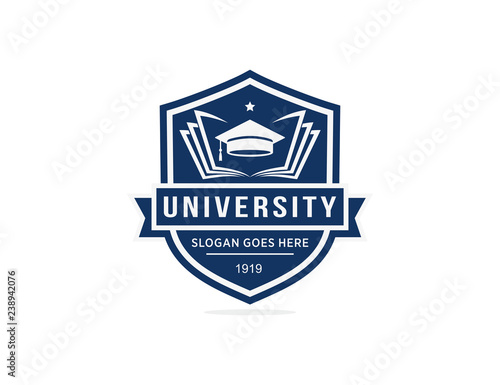 Photo University college school logo template