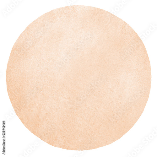 Fotografía  Natural, rose beige watercolor round background with stains