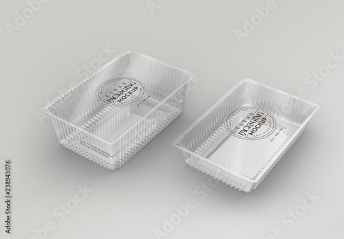 Clear Plastic Sealed Containers Mockup Buy This Stock Template