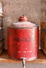 Small Old Barrel Of Gasoline O...