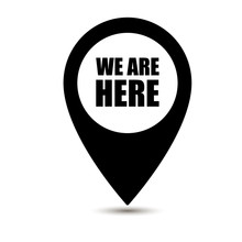 We Are Here Map Pointer Icon I...