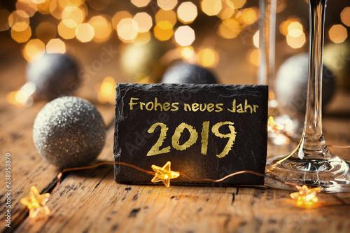 Fotografie, Obraz  Frohes neues Jahr 2019
