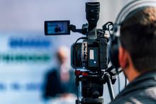 Media Event. Camera Recording ...