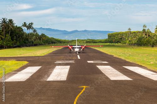 Air travel in Fiji, Melanesia, Oceania Canvas Print