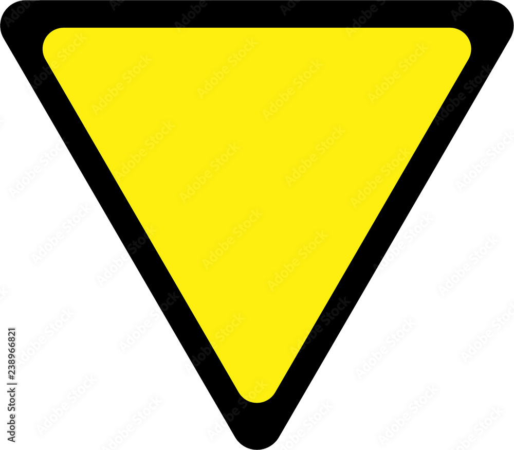 Fototapety, obrazy: Road sign with give way