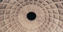 Impressive Dome Of Roman Pantheon (built In The 2nd Century By Emperor Hadrian)