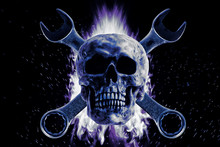 Skull And Crescent Wrench On F...