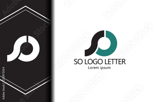 Fotografie, Obraz alphabet  logo SO letter with combination, lowercase for business - vector