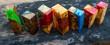 Leinwanddruck Bild - Bar epoxy resin Stabilizing Afzelia burl exotic wood background