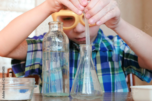 Chemistry experiments at home Canvas Print