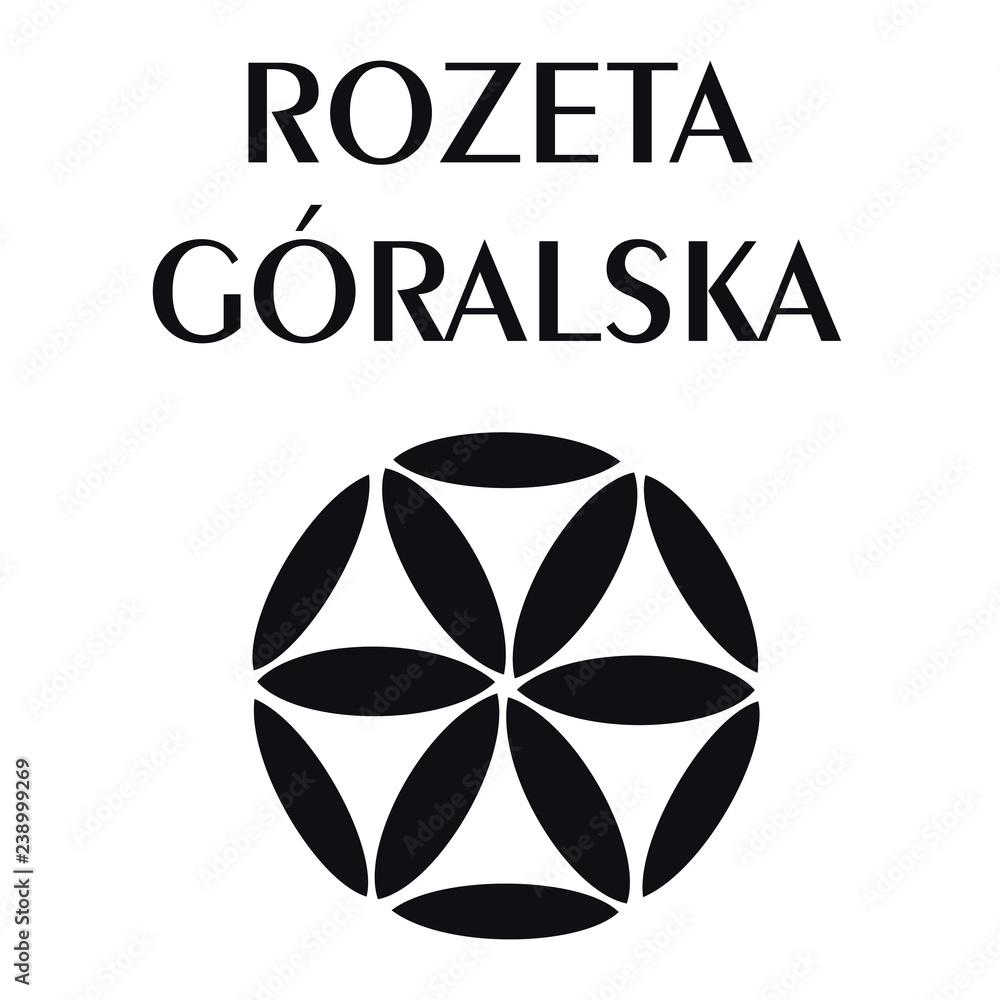Fototapeta Rozeta góralska ozdobnik podhalański regionalny polski folklor polish folk