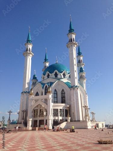 Fotografia  Kul-Sharif Mosque on the territory of the Kremlin in Kazan, Republic of Tatarstan, Russia
