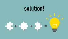 Puzzle Light Bulb -solution Image-